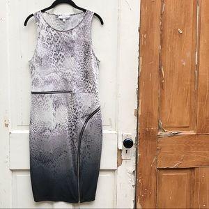 Jennifer Lopez animal print dress with zippers 14